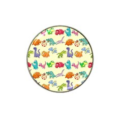 Group Of Funny Dinosaurs Graphic Hat Clip Ball Marker (4 Pack)