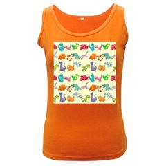 Group Of Funny Dinosaurs Graphic Women s Dark Tank Top