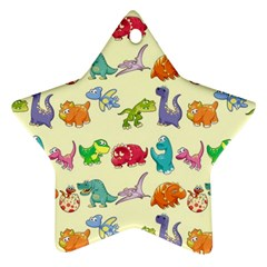 Group Of Funny Dinosaurs Graphic Star Ornament (two Sides)