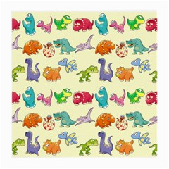 Group Of Funny Dinosaurs Graphic Medium Glasses Cloth