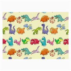 Group Of Funny Dinosaurs Graphic Large Glasses Cloth