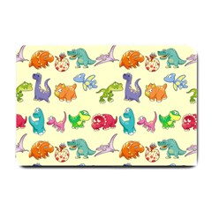 Group Of Funny Dinosaurs Graphic Small Doormat