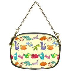 Group Of Funny Dinosaurs Graphic Chain Purses (one Side)