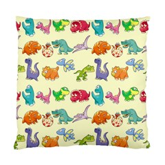 Group Of Funny Dinosaurs Graphic Standard Cushion Case (one Side)