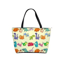 Group Of Funny Dinosaurs Graphic Shoulder Handbags