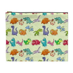 Group Of Funny Dinosaurs Graphic Cosmetic Bag (xl)