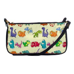 Group Of Funny Dinosaurs Graphic Shoulder Clutch Bags