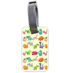 Group Of Funny Dinosaurs Graphic Luggage Tags (two Sides)