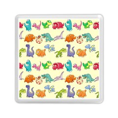 Group Of Funny Dinosaurs Graphic Memory Card Reader (square)