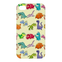 Group Of Funny Dinosaurs Graphic Apple Iphone 4/4s Premium Hardshell Case
