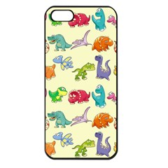 Group Of Funny Dinosaurs Graphic Apple Iphone 5 Seamless Case (black)