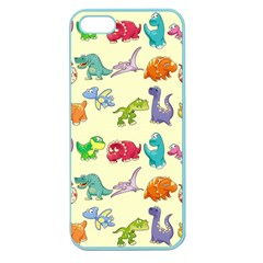 Group Of Funny Dinosaurs Graphic Apple Seamless Iphone 5 Case (color)