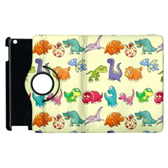 Group Of Funny Dinosaurs Graphic Apple Ipad 3/4 Flip 360 Case