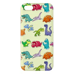 Group Of Funny Dinosaurs Graphic Apple Iphone 5 Premium Hardshell Case
