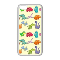 Group Of Funny Dinosaurs Graphic Apple Iphone 5c Seamless Case (white)