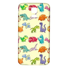 Group Of Funny Dinosaurs Graphic Samsung Galaxy S5 Back Case (white)