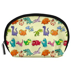 Group Of Funny Dinosaurs Graphic Accessory Pouches (large)