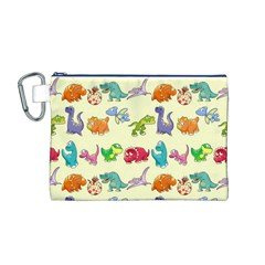 Group Of Funny Dinosaurs Graphic Canvas Cosmetic Bag (m)