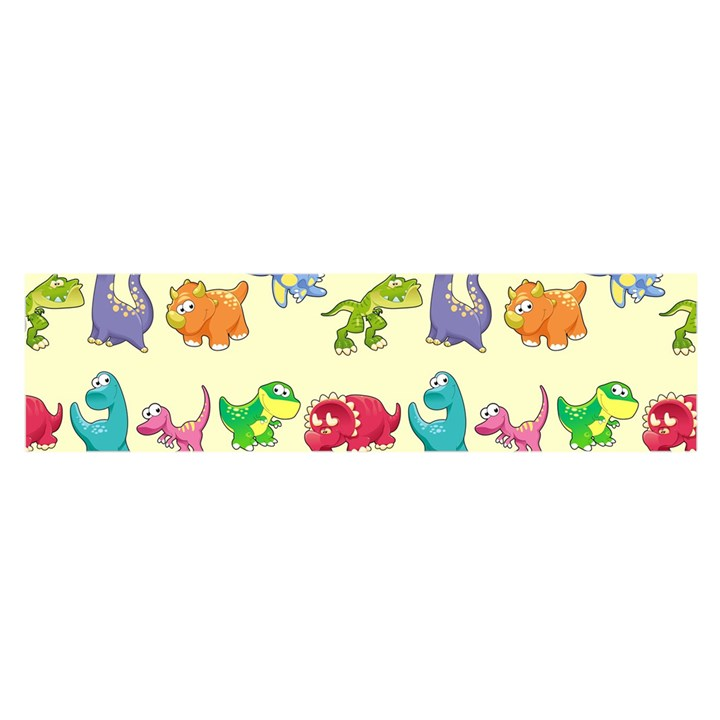 Group Of Funny Dinosaurs Graphic Satin Scarf (Oblong)