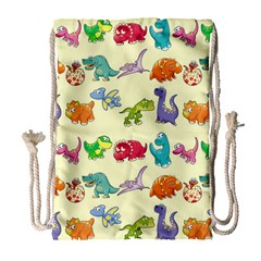 Group Of Funny Dinosaurs Graphic Drawstring Bag (large)