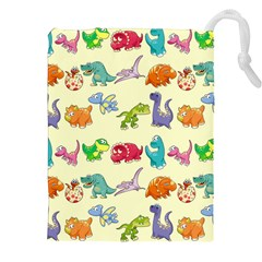 Group Of Funny Dinosaurs Graphic Drawstring Pouches (xxl)