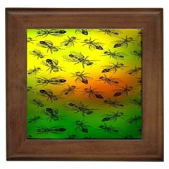 Insect Pattern Framed Tiles