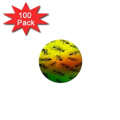 Insect Pattern 1  Mini Magnets (100 Pack)
