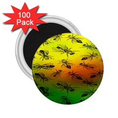 Insect Pattern 2 25  Magnets (100 Pack)