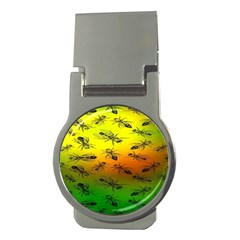 Insect Pattern Money Clips (round)