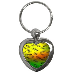 Insect Pattern Key Chains (heart)