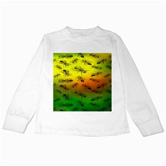 Insect Pattern Kids Long Sleeve T Shirts