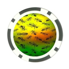 Insect Pattern Poker Chip Card Guard