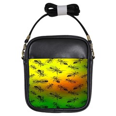 Insect Pattern Girls Sling Bags