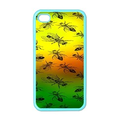 Insect Pattern Apple Iphone 4 Case (color)