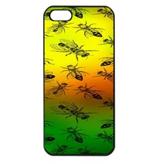 Insect Pattern Apple Iphone 5 Seamless Case (black)
