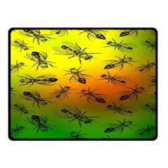 Insect Pattern Double Sided Fleece Blanket (small)