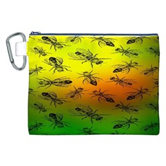 Insect Pattern Canvas Cosmetic Bag (xxl)