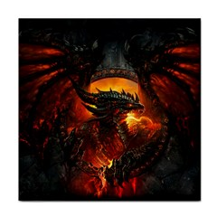 Dragon Legend Art Fire Digital Fantasy Tile Coasters