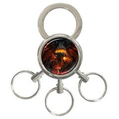 Dragon Legend Art Fire Digital Fantasy 3 Ring Key Chains