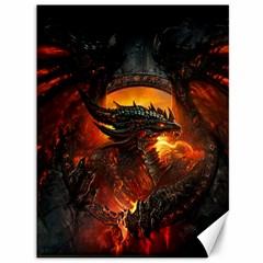 Dragon Legend Art Fire Digital Fantasy Canvas 36  X 48