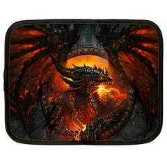 Dragon Legend Art Fire Digital Fantasy Netbook Case (large)