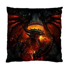 Dragon Legend Art Fire Digital Fantasy Standard Cushion Case (two Sides)