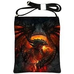 Dragon Legend Art Fire Digital Fantasy Shoulder Sling Bags