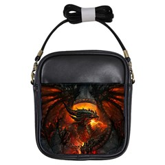 Dragon Legend Art Fire Digital Fantasy Girls Sling Bags