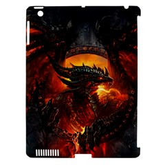 Dragon Legend Art Fire Digital Fantasy Apple Ipad 3/4 Hardshell Case (compatible With Smart Cover)