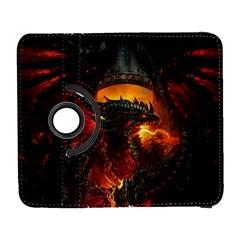 Dragon Legend Art Fire Digital Fantasy Galaxy S3 (flip/folio)