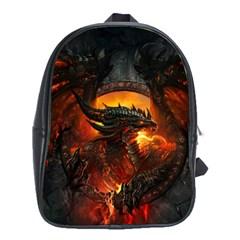 Dragon Legend Art Fire Digital Fantasy School Bags (xl)