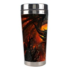 Dragon Legend Art Fire Digital Fantasy Stainless Steel Travel Tumblers
