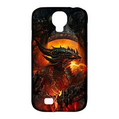 Dragon Legend Art Fire Digital Fantasy Samsung Galaxy S4 Classic Hardshell Case (pc+silicone)