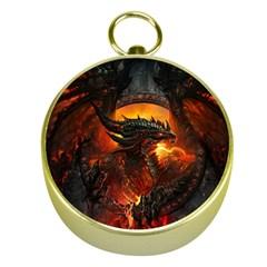 Dragon Legend Art Fire Digital Fantasy Gold Compasses